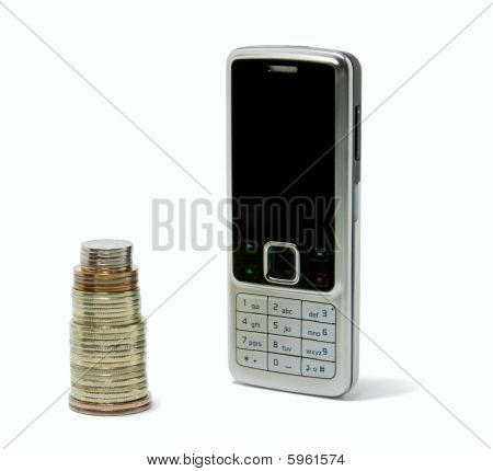 Phone and Coins