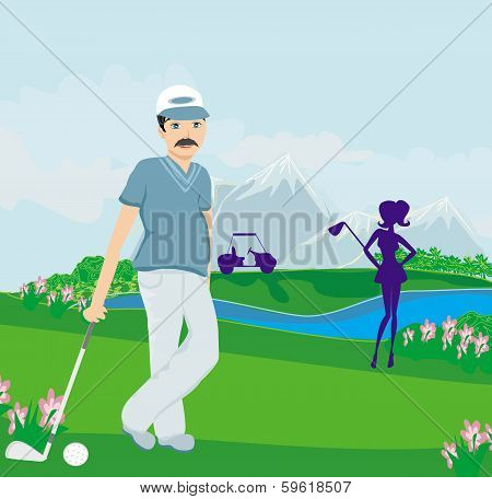 Golfers On A Sunny Day