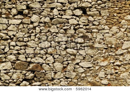 old white stone wall