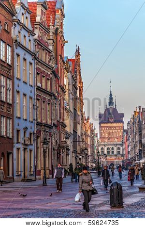 Old Town Of Gdansk, Poland.