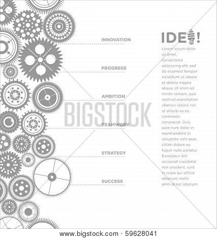 gears infographic template for bussines presentation, vector