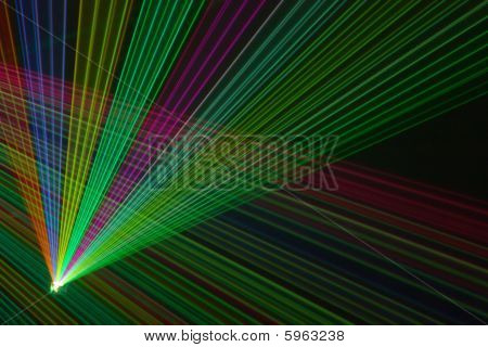 Color Laser Beams