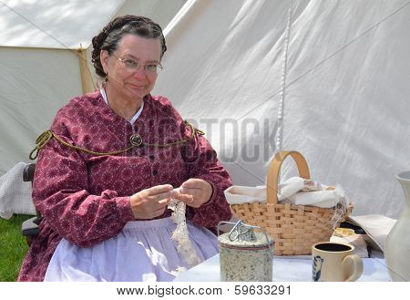 Civil-war Era Reenactor Tatting