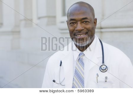 Doctor Smiling To Camera