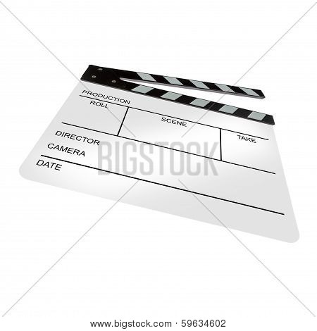 White Clapperboard