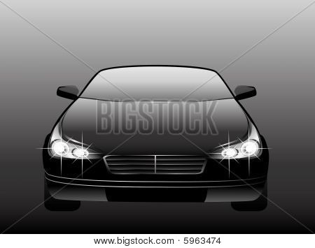 black beautiful car