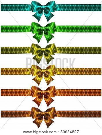 Holiday Polka Dot Bow-knots With Ribbons
