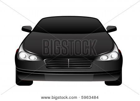 black beautiful car