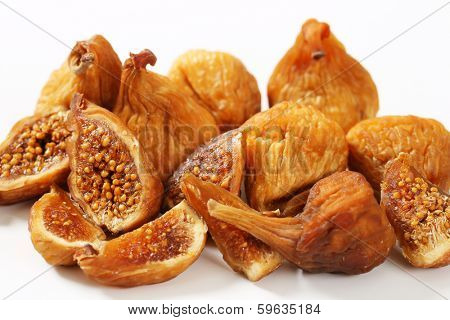heap of  dried natural figs