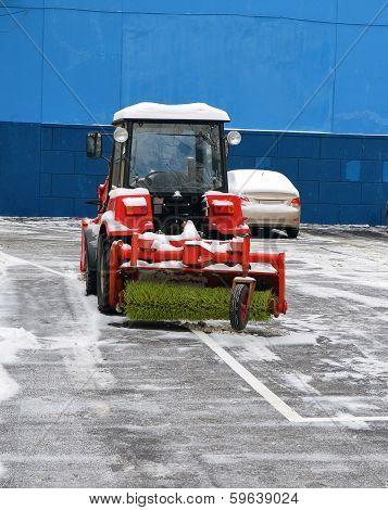 Snowblower On Parking
