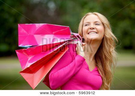 Shopping Woman Portrait