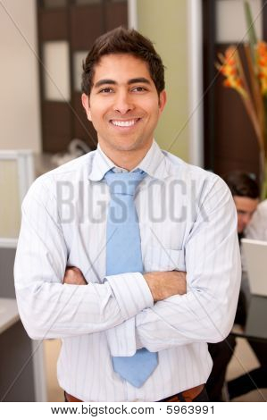 Business Man In An Office
