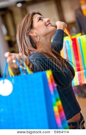 Beautiful Shooping Woman