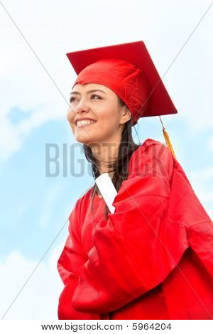 Graduated Woman Outdoors