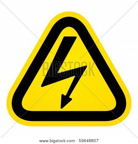 Hazard High Voltage Sign