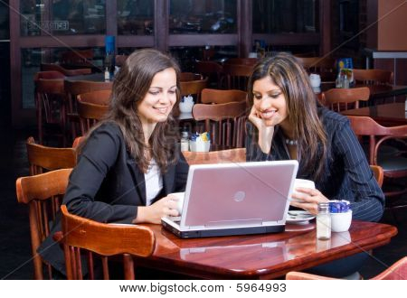 Business women with computer