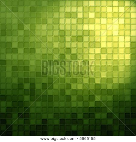 Gelbe und grüne Mosaik