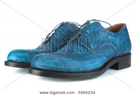 Blue Shoes With Laces