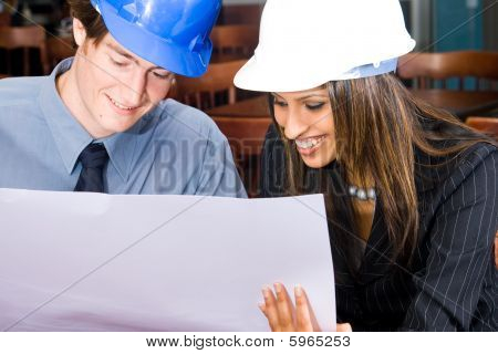 Construction business people