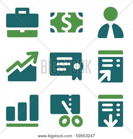 Finance web icons, green mix set