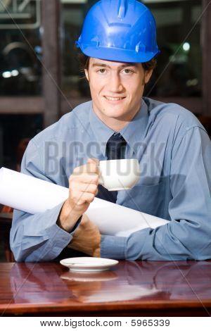 Construction businessman