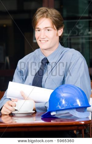 Construction businessman