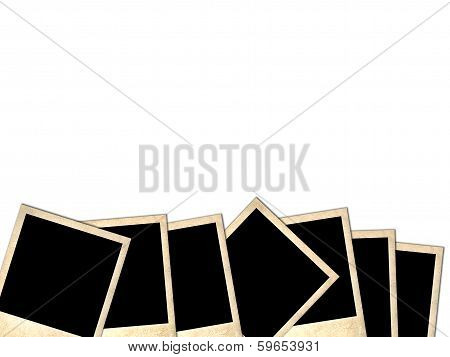 Pile Of Old Photos Isolated On White Background
