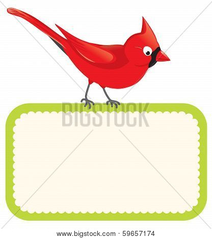 Cardinal with blank sign