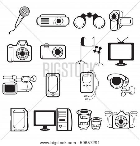 Electronic Equipment Icons