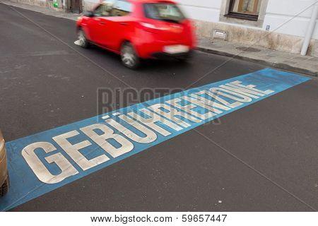 austria, linz, fees zone inside the city for parking.