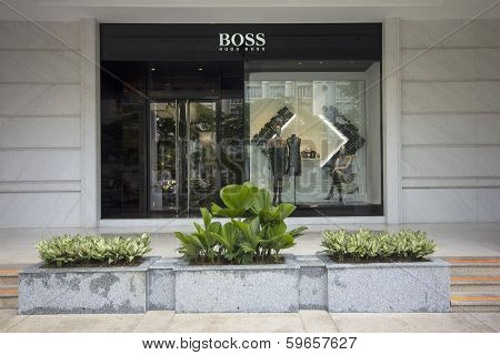 Ho Chi Minh City, Vietnam-october 30Th 2013: Hugo Boss Store In District 1. Th Official Distributor