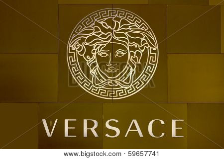 Ho Chi Minh City, Vietnam-october 31St 2013: Versace Logo On Store In Ho Chi Minh City. The Logo Is