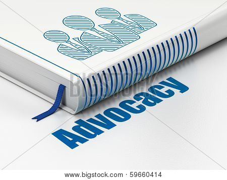 Law concept: book Business People, Advocacy on white background