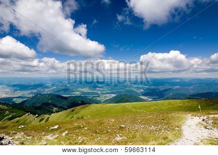 Mountain ridge - National park Little Fatra - Slovakia, Europe