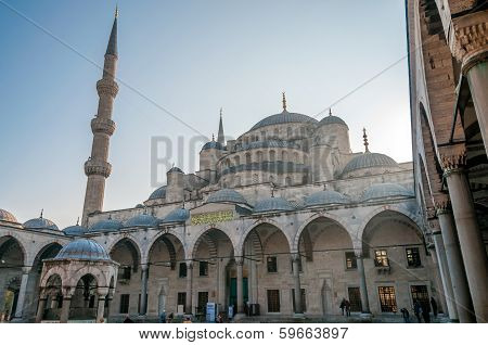 Courtyard Of Yeni Cami, The New Mosque