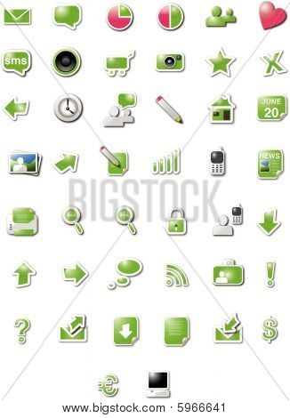 Web 2.0 icons - green candy