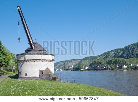 Wine Crane, Rhine River, Andernach, Germany