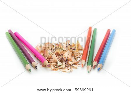 Pencils And Pencil Shavings