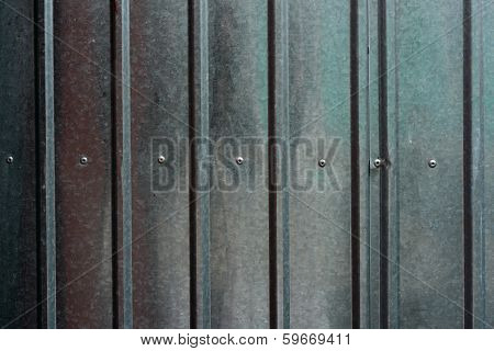 Shining Ridged Metal Fence