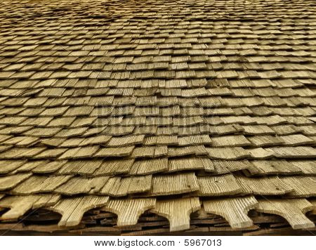 Wood church roof