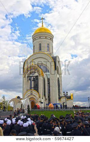 Easter Ceremony Spiritual Blessings Cadet Military College In Moscow