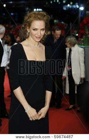 BERLIN - FEB 9: Uma Thurman at the 'Nymphomaniac Volume I' premiere - 64th Berlinale International Film Festival at Berlinale Palast on February 9, 2014 in Berlin, Germany