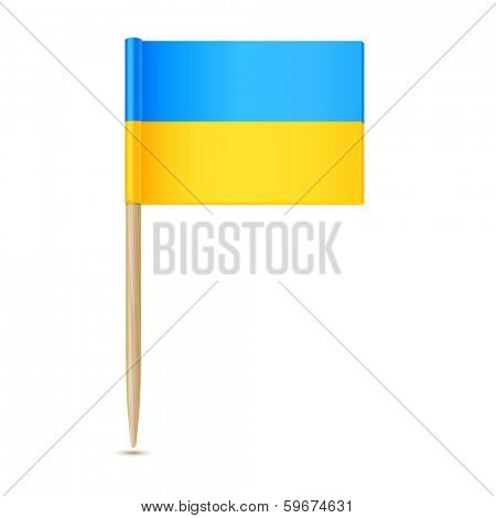 Ukraine flag toothpick