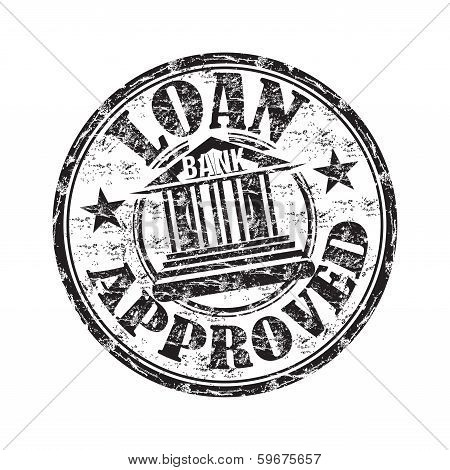 Loan approved grunge rubber stamp
