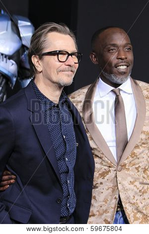 LOS ANGELES - FEB 10:  Gary Oldman, Michael Kenneth Williams at the