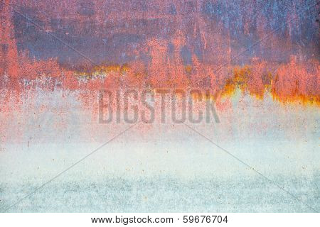 Old Rusty Iron Background, Rusty Flood