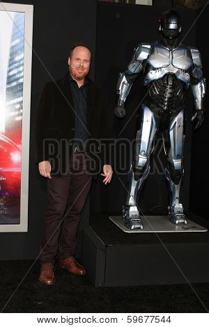 LOS ANGELES - FEB 10: Pedro Bromfman at the premiere of Columbia Pictures' 'Robocop' at TCL Chinese Theatre on February 10, 2014 in Los Angeles, California