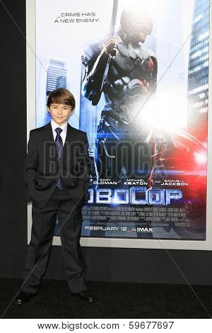 LOS ANGELES - FEB 10: John Paul Ruttan at the premiere of Columbia Pictures' 'Robocop' at TCL Chinese Theatre on February 10, 2014 in Los Angeles, California