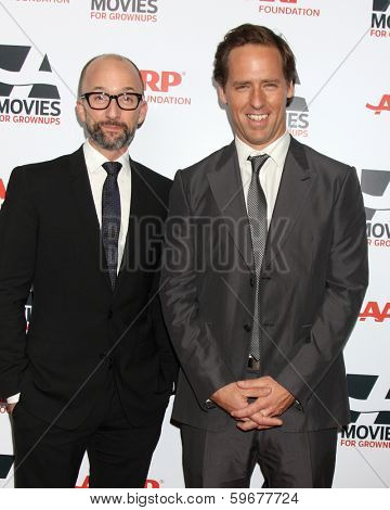 LOS ANGELES - FEB 10:  Jim Rash, Nat Faxon at the AARP