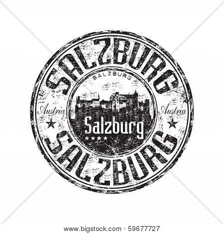 Salzburg grunge rubber stamp